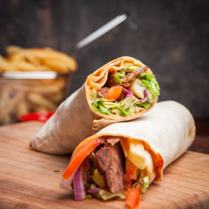 WRAPS all served with salad, garlic sauce & chilli sauce